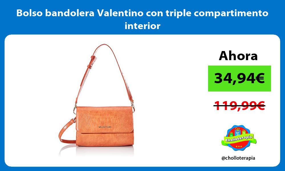 Bolso bandolera Valentino con triple compartimento interior