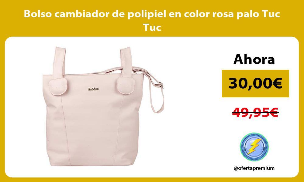 Bolso cambiador de polipiel en color rosa palo Tuc Tuc