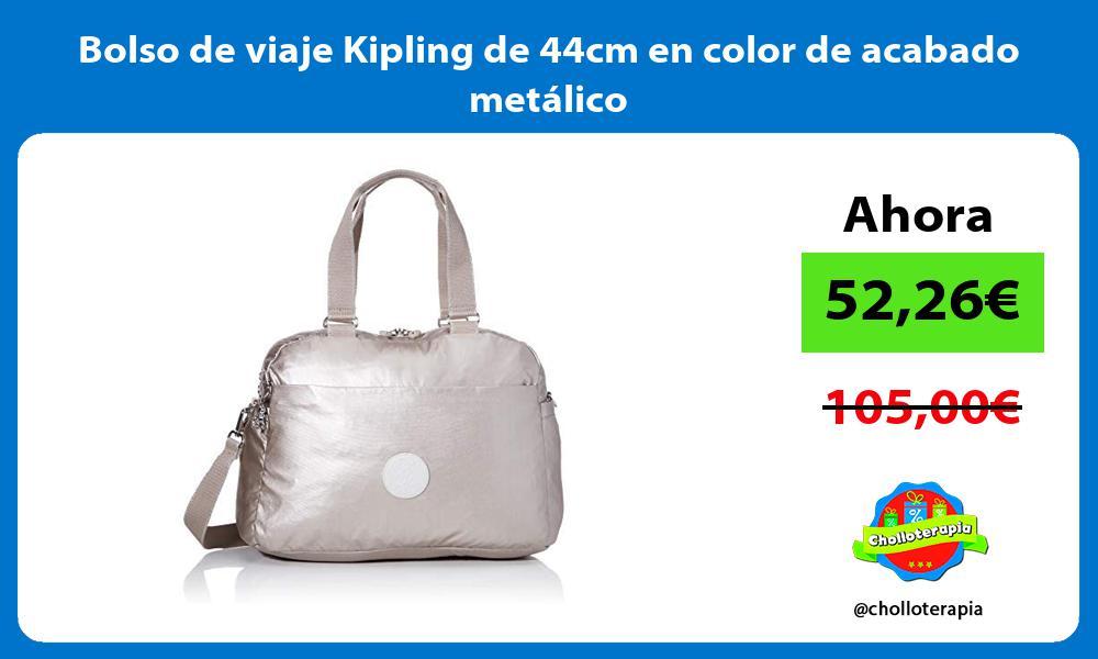 Bolso de viaje Kipling de 44cm en color de acabado metálico