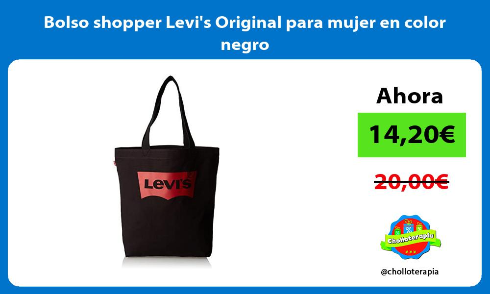Bolso shopper Levis Original para mujer en color negro