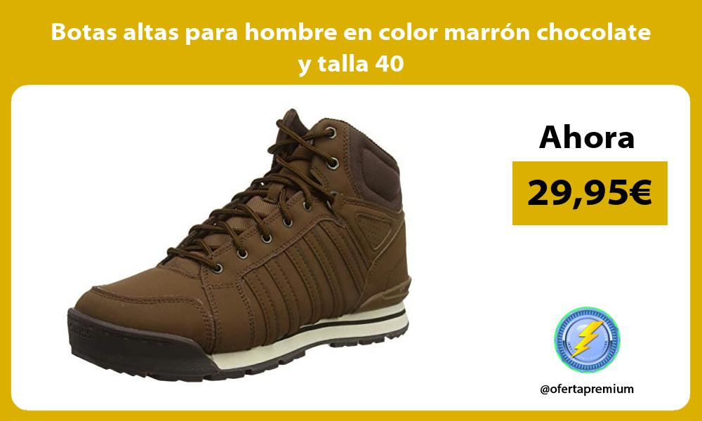 Botas altas para hombre en color marrón chocolate y talla 40