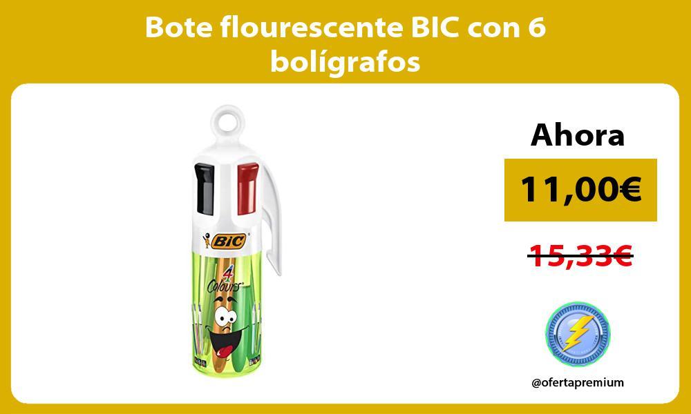 Bote flourescente BIC con 6 bolígrafos