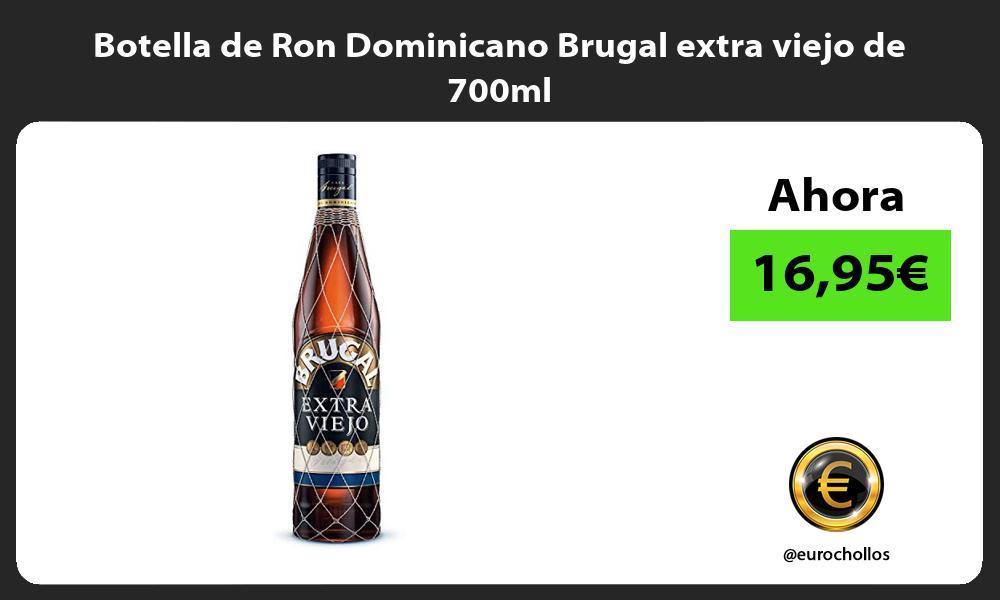 Botella de Ron Dominicano Brugal extra viejo de 700ml
