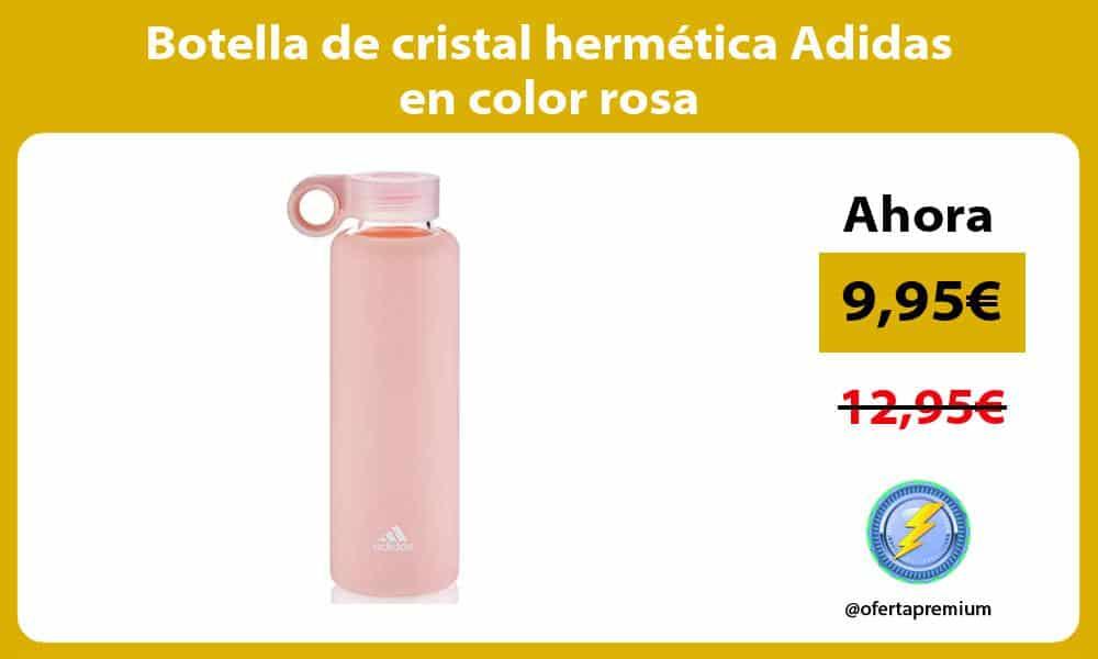 Botella de cristal hermética Adidas en color rosa
