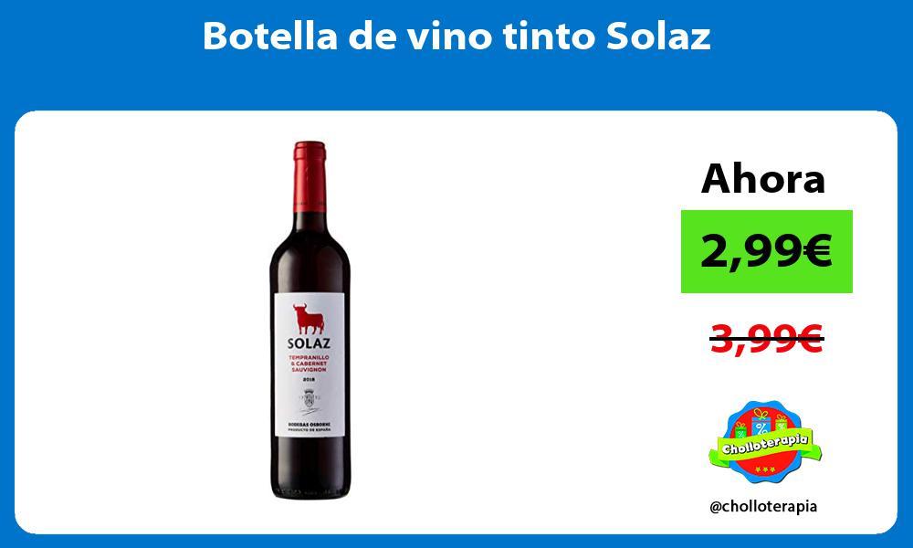 Botella de vino tinto Solaz