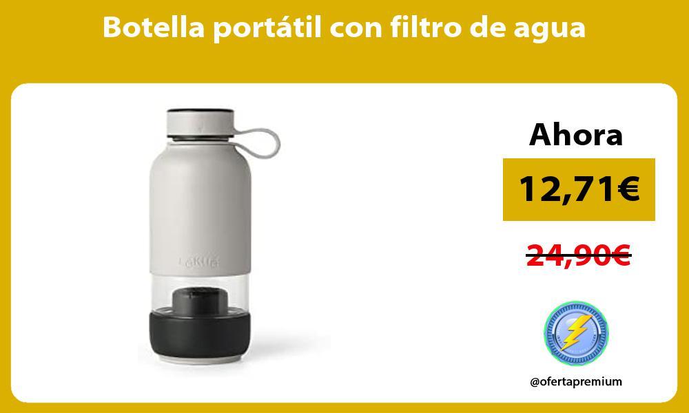 Botella portátil con filtro de agua