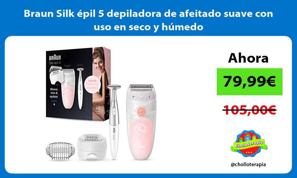 Braun Silk épil 5 depiladora de afeitado suave con uso en seco y húmedo