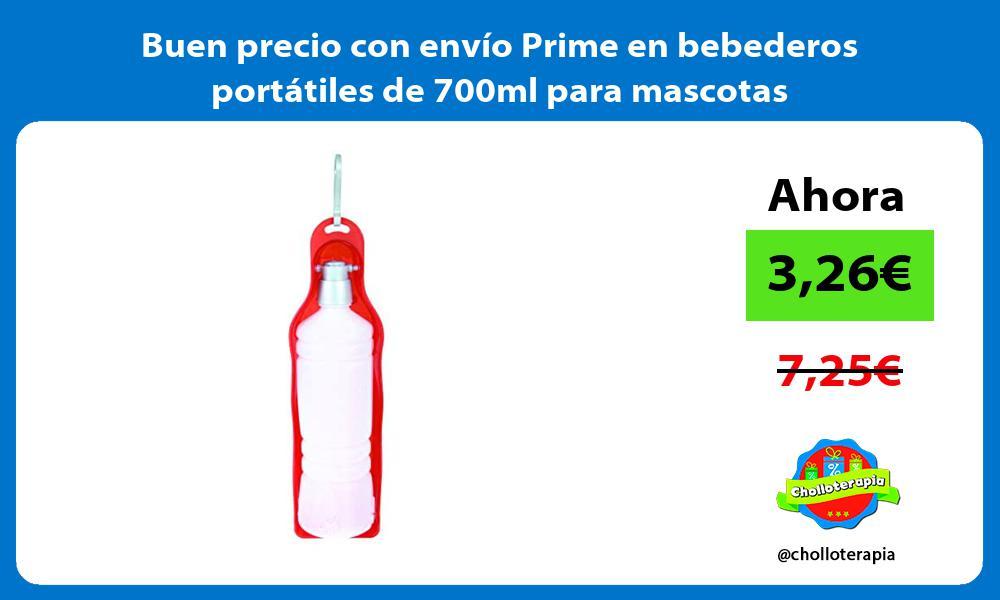 Buen precio con envío Prime en bebederos portátiles de 700ml para mascotas