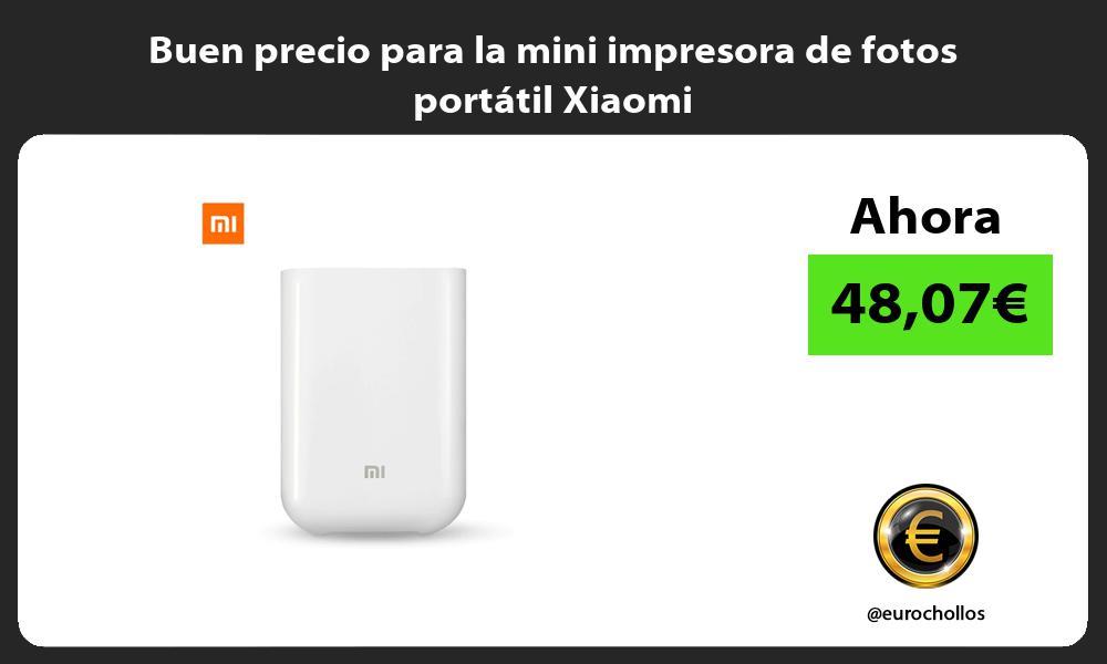 Buen precio para la mini impresora de fotos portátil Xiaomi