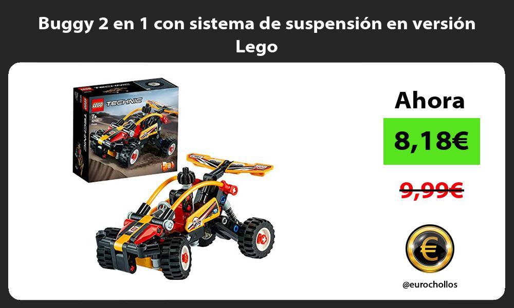 Buggy 2 en 1 con sistema de suspensión en versión Lego