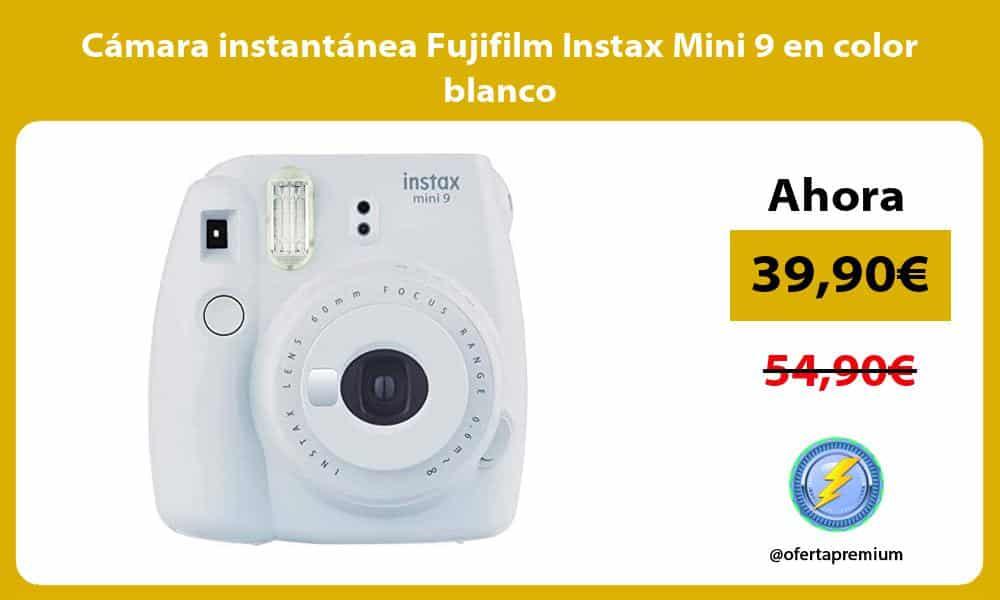 Cámara instantánea Fujifilm Instax Mini 9 en color blanco