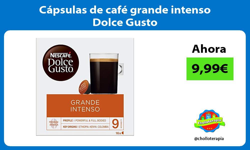 Cápsulas de café grande intenso Dolce Gusto
