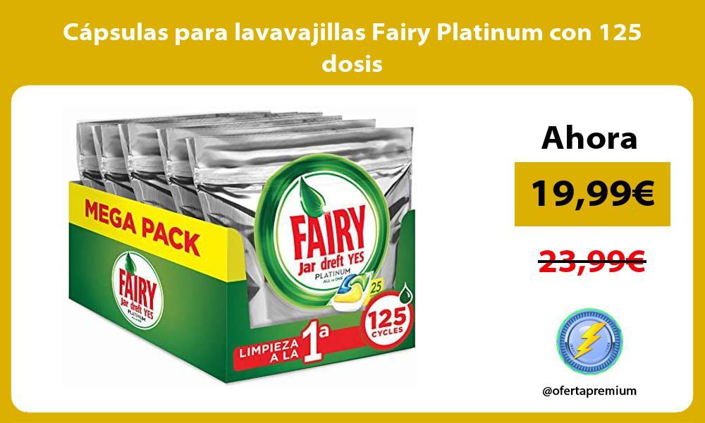 Cápsulas para lavavajillas Fairy Platinum con 125 dosis