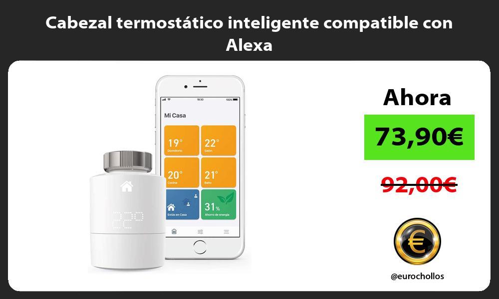 Cabezal termostático inteligente compatible con Alexa