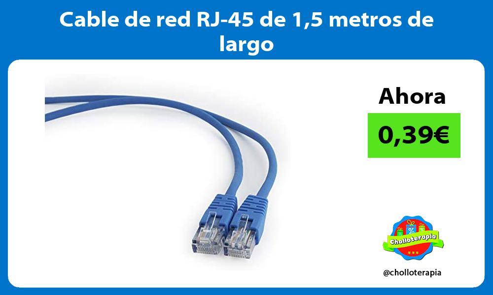 Cable de red RJ 45 de 15 metros de largo