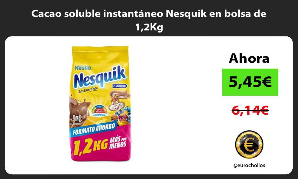 Cacao soluble instantáneo Nesquik en bolsa de 12Kg