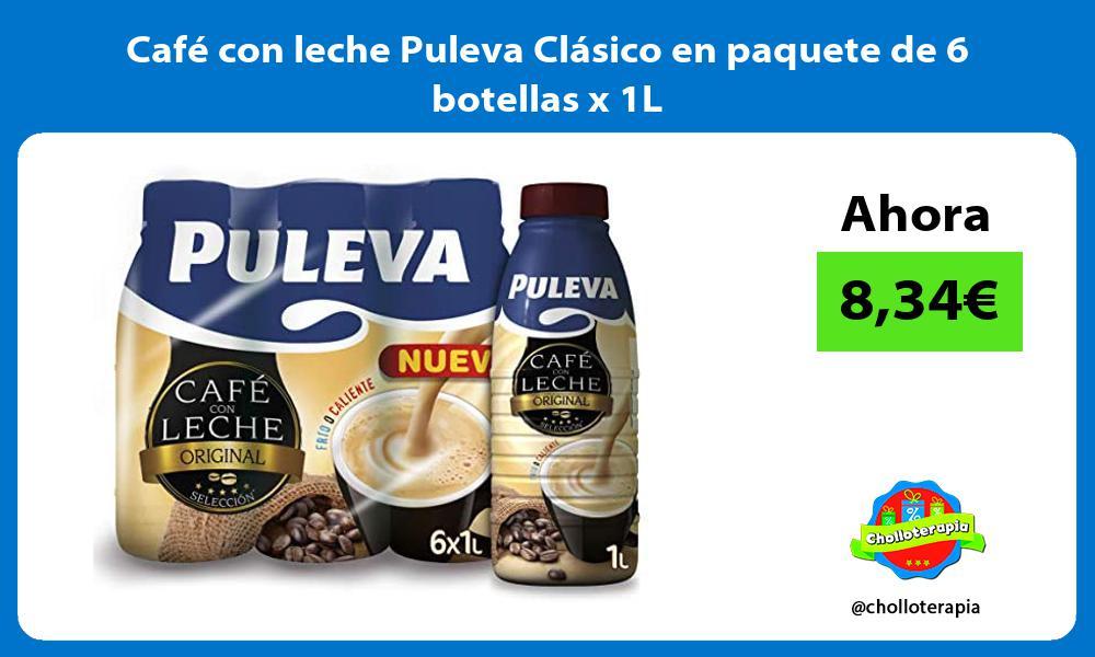 Café con leche Puleva Clásico en paquete de 6 botellas x 1L