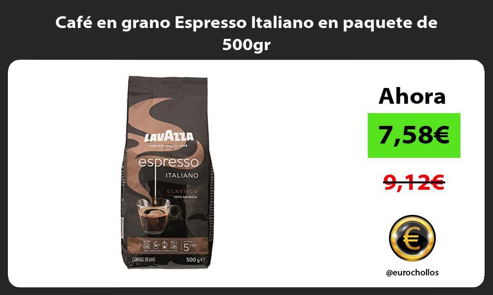 Café en grano Espresso Italiano en paquete de 500gr