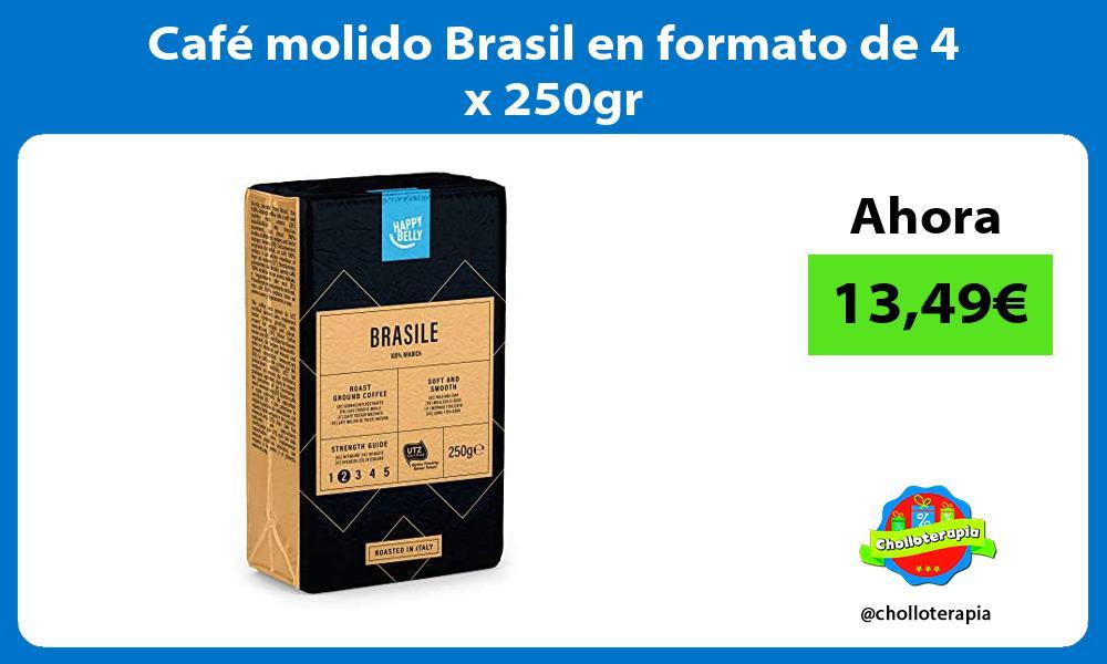 Café molido Brasil en formato de 4 x 250gr
