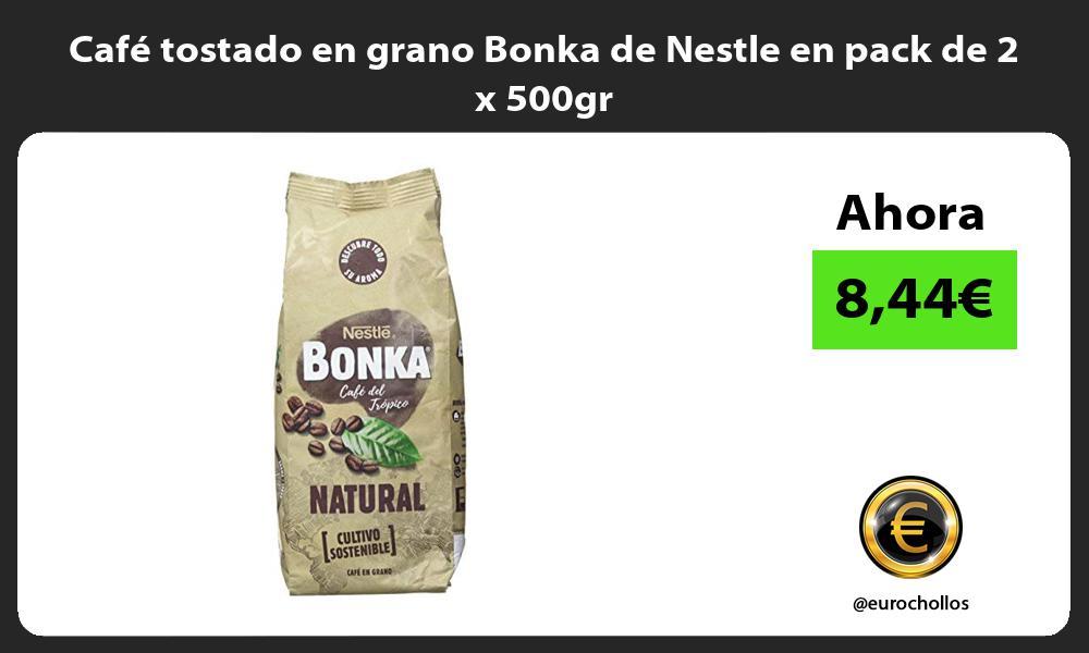 Café tostado en grano Bonka de Nestle en pack de 2 x 500gr