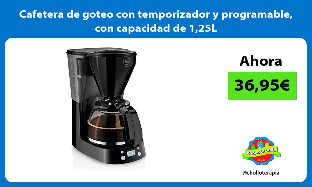 Cafetera de goteo con temporizador y programable con capacidad de 125L