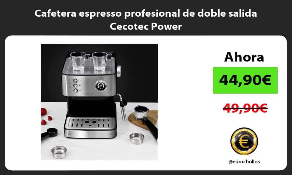 Cafetera espresso profesional de doble salida Cecotec Power