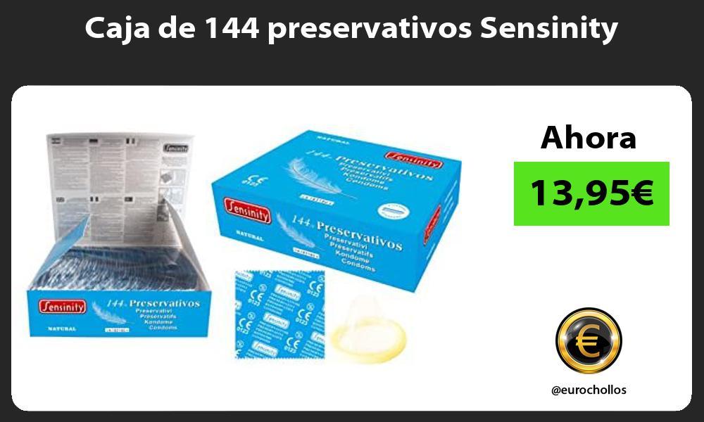 Caja de 144 preservativos Sensinity