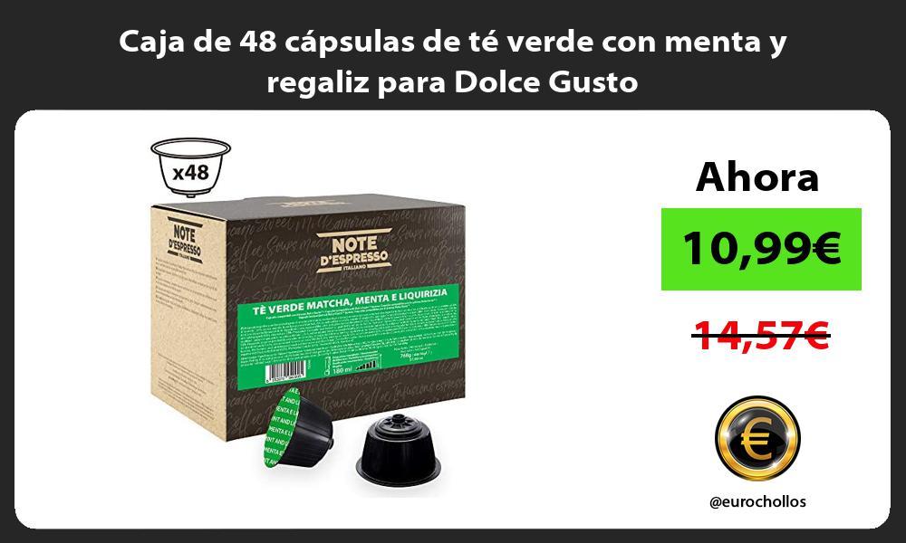 Caja de 48 cápsulas de té verde con menta y regaliz para Dolce Gusto