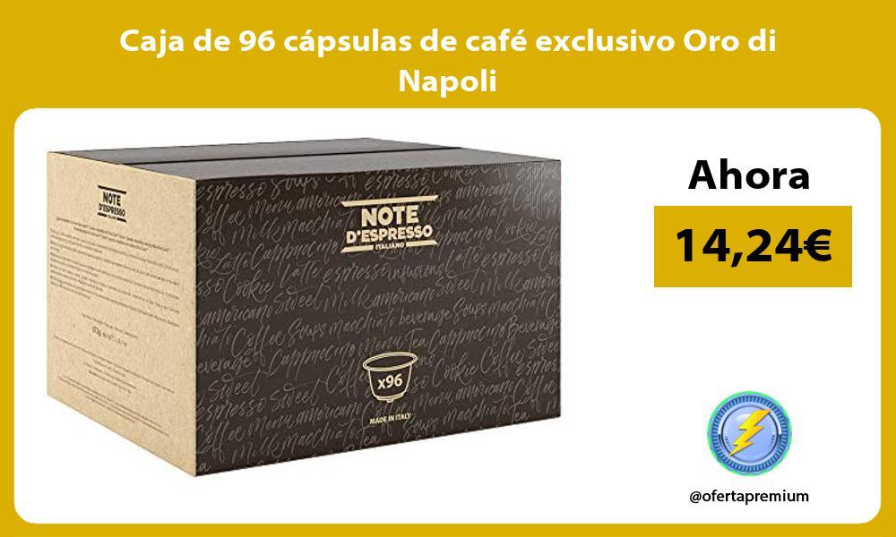 Caja de 96 cápsulas de café exclusivo Oro di Napoli
