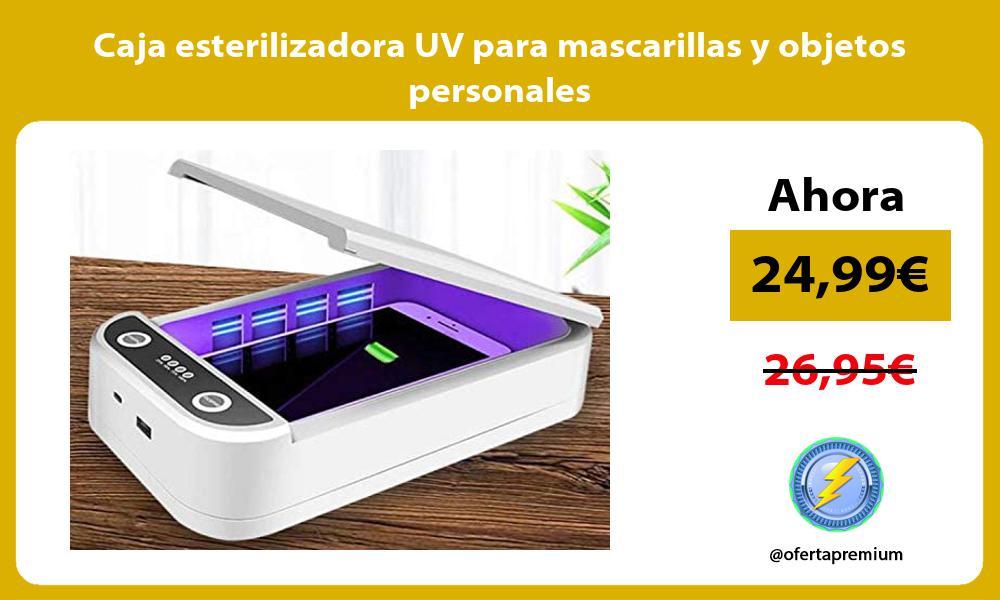 Caja esterilizadora UV para mascarillas y objetos personales