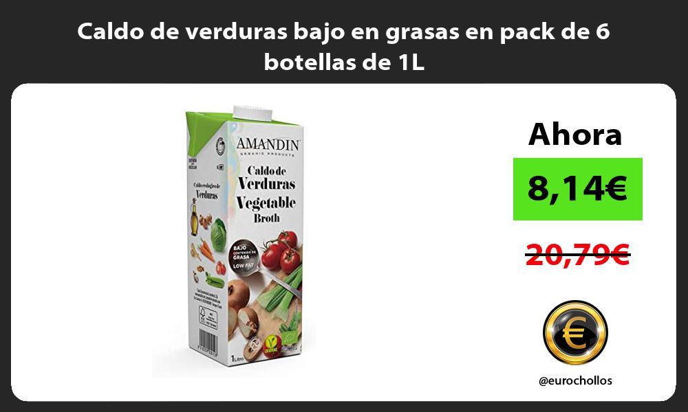 Caldo de verduras bajo en grasas en pack de 6 botellas de 1L