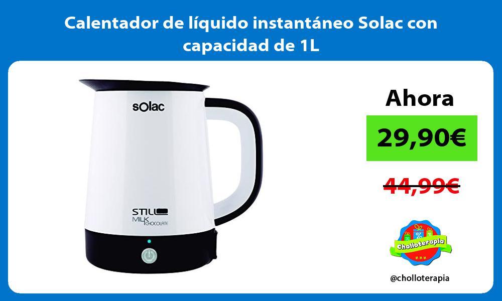 Calentador de líquido instantáneo Solac con capacidad de 1L