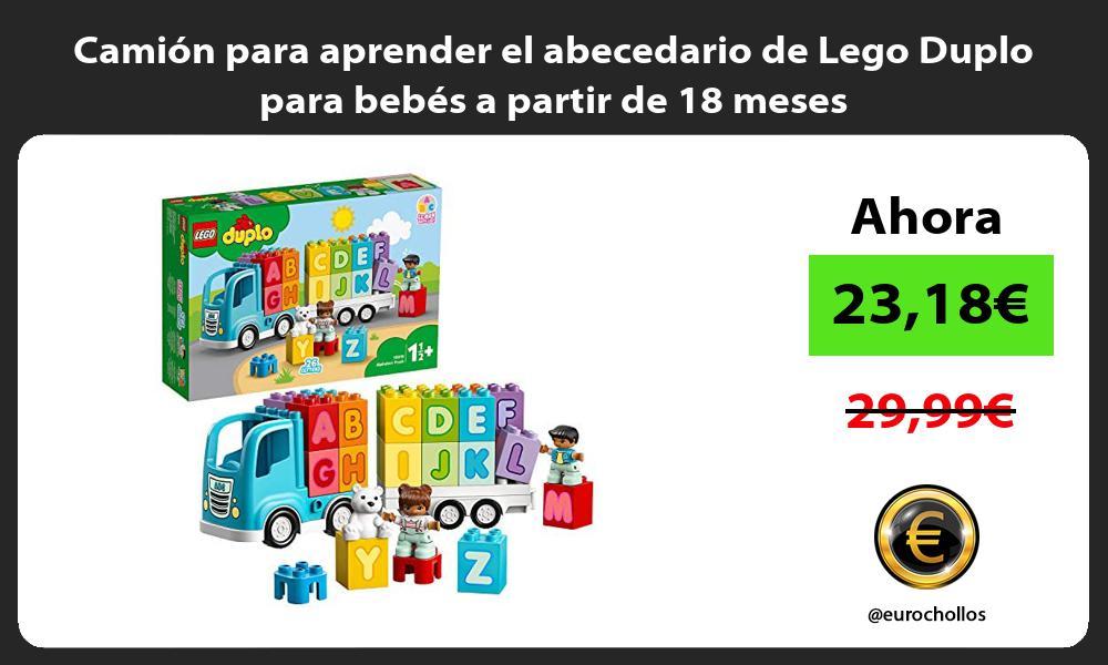 Camión para aprender el abecedario de Lego Duplo para bebés a partir de 18 meses