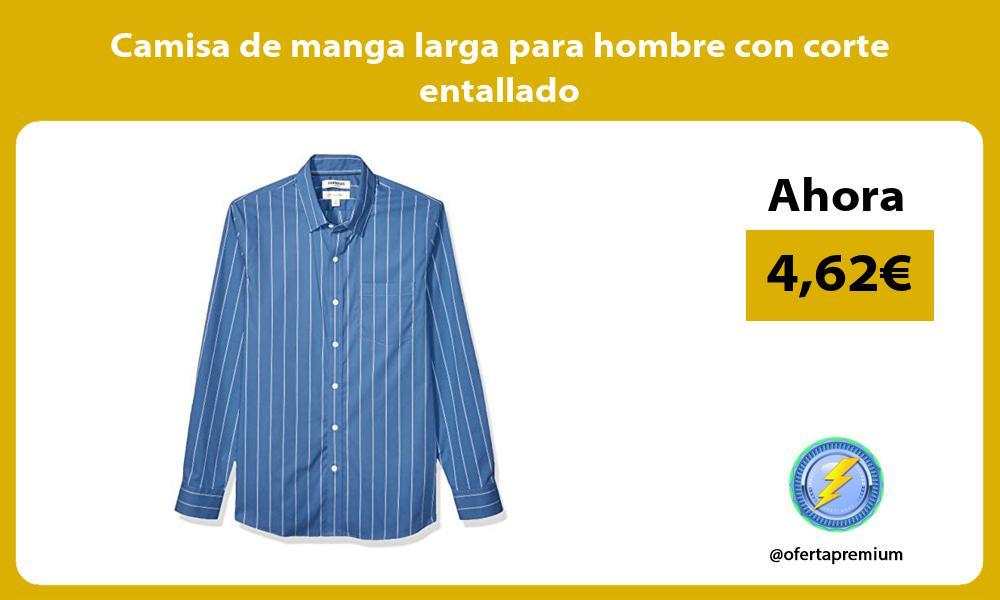 Camisa de manga larga para hombre con corte entallado