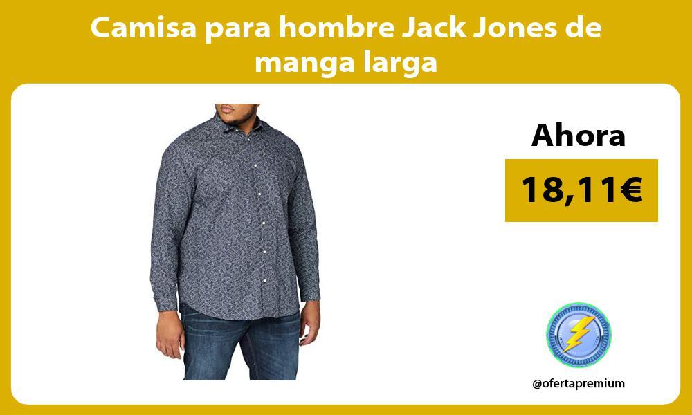 Camisa para hombre Jack Jones de manga larga