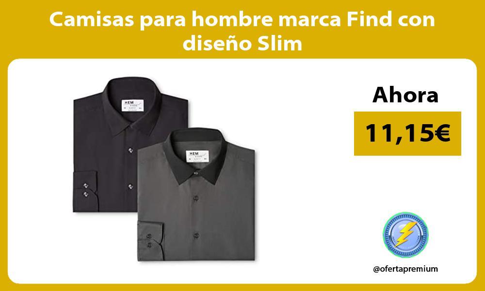 Camisas para hombre marca Find con diseño Slim