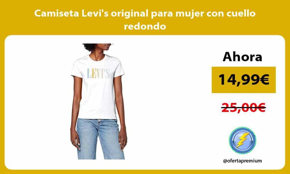 Camiseta Levis original para mujer con cuello redondo