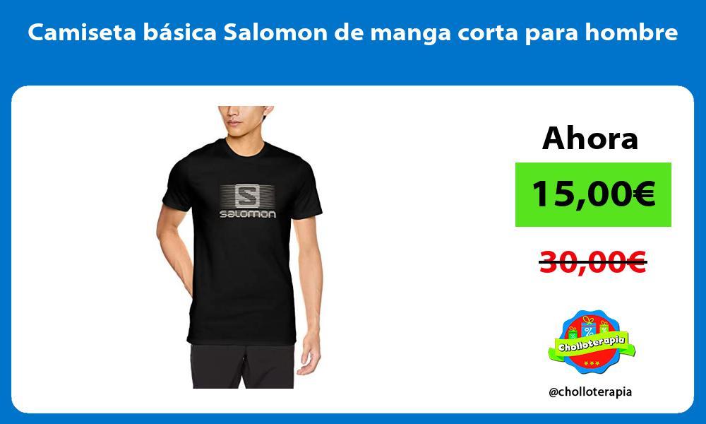 Camiseta básica Salomon de manga corta para hombre