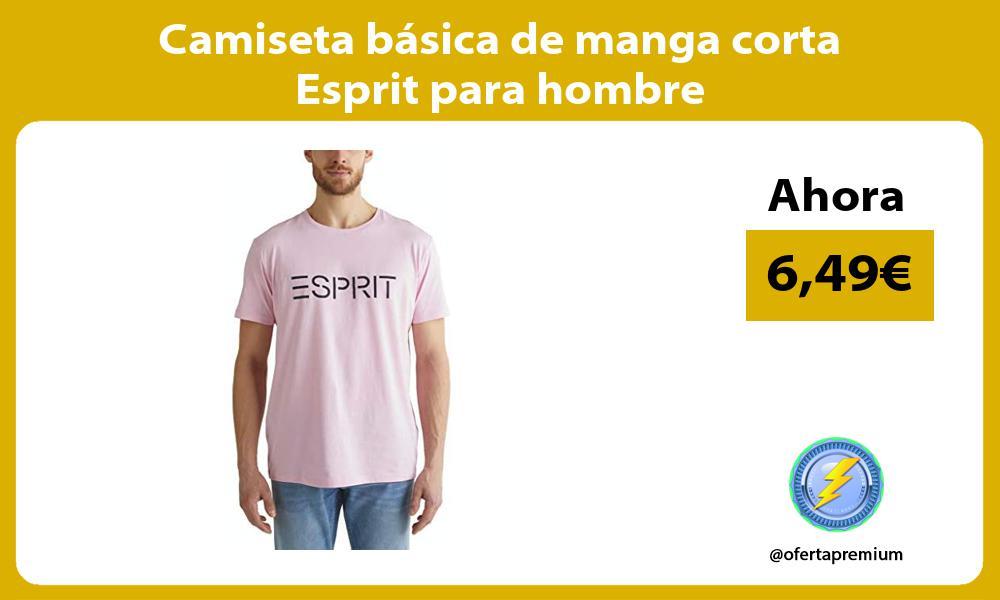 Camiseta básica de manga corta Esprit para hombre
