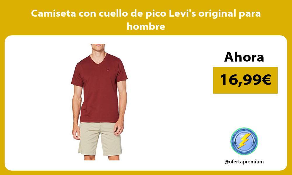 Camiseta con cuello de pico Levis original para hombre