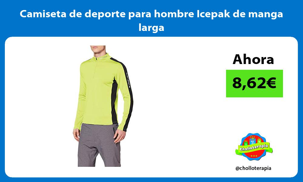 Camiseta de deporte para hombre Icepak de manga larga