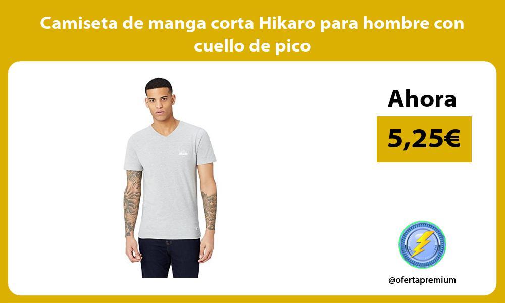 Camiseta de manga corta Hikaro para hombre con cuello de pico