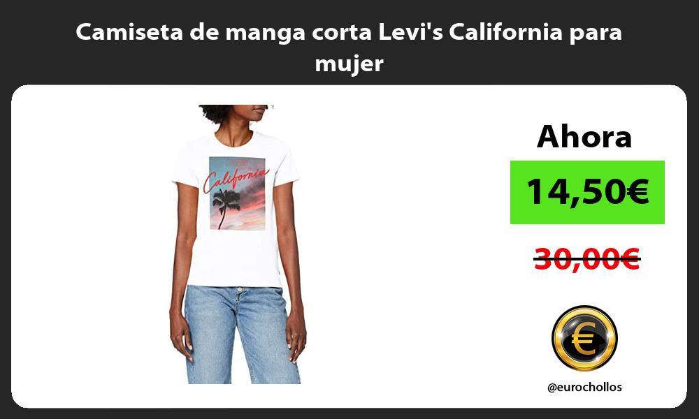 Camiseta de manga corta Levis California para mujer