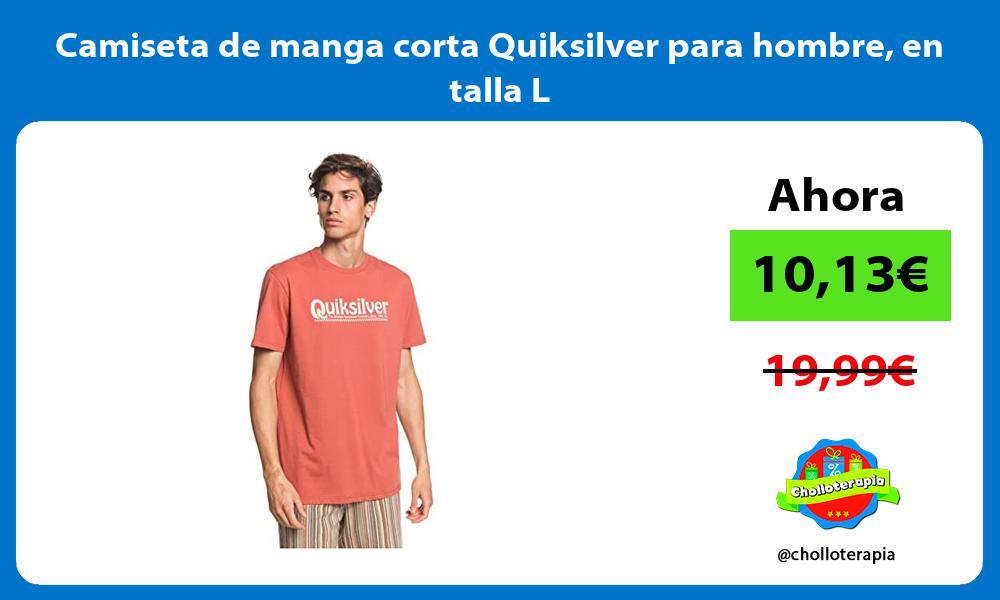 Camiseta de manga corta Quiksilver para hombre en talla L