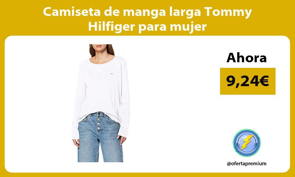 Camiseta de manga larga Tommy Hilfiger para mujer