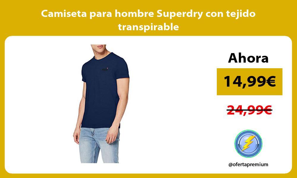 Camiseta para hombre Superdry con tejido transpirable