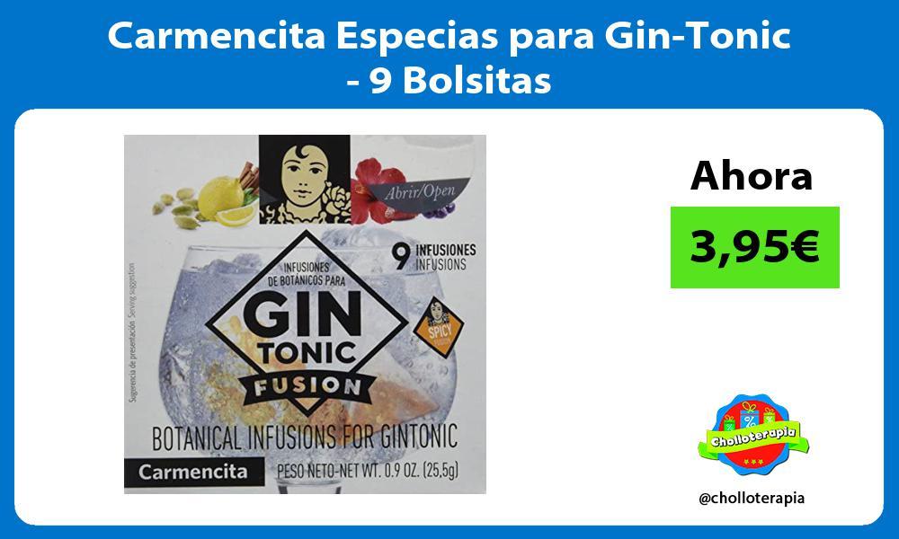 Carmencita Especias para Gin Tonic 9 Bolsitas