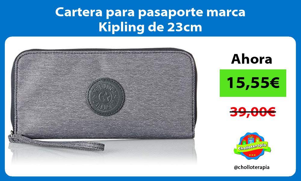 Cartera para pasaporte marca Kipling de 23cm