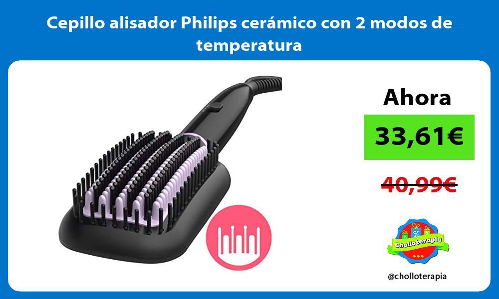 Cepillo alisador Philips cerámico con 2 modos de temperatura
