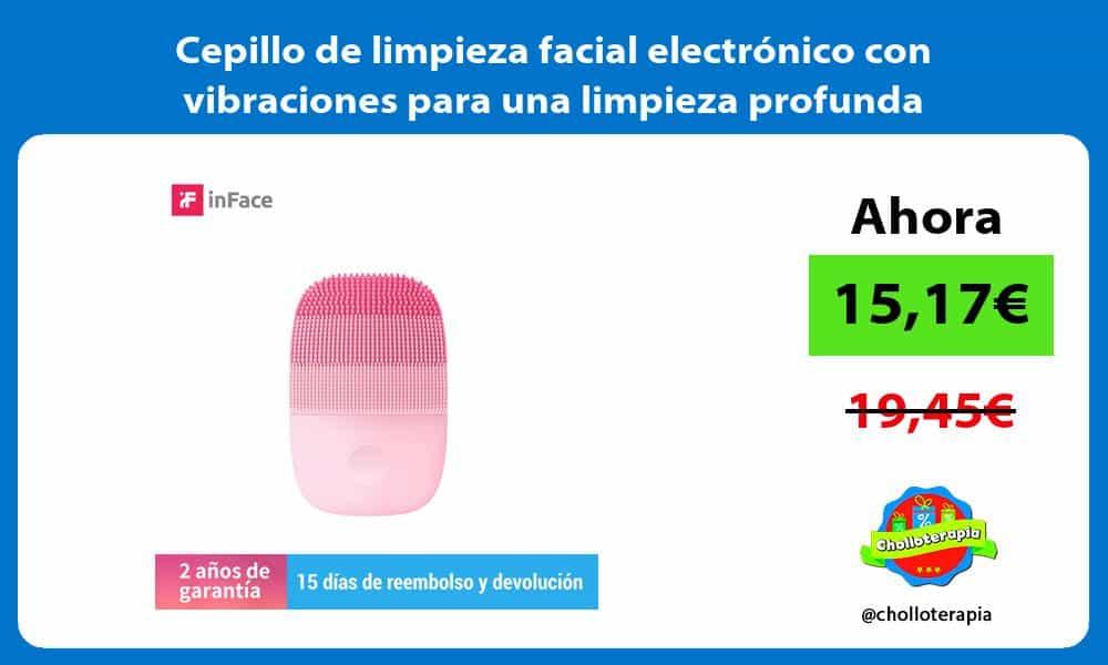 Cepillo de limpieza facial electrónico con vibraciones para una limpieza profunda